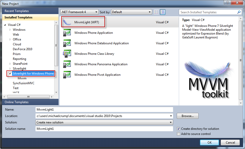Attaching a Command to the WP7 Application Bar  - Michael Crump