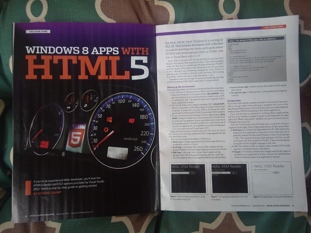 Windows 8 Apps With HTML5 Published in Visual Studio