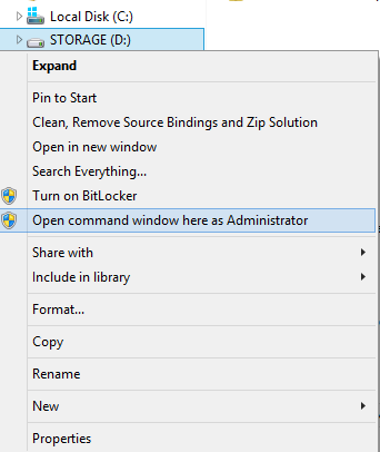 open elevated command prompt windows 8.1